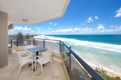 Absolute beachfront 7th floor apartment with stunning 180degree ocean views