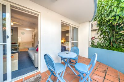 Ground floor Inner City Beachside Pad with Large Private Patio