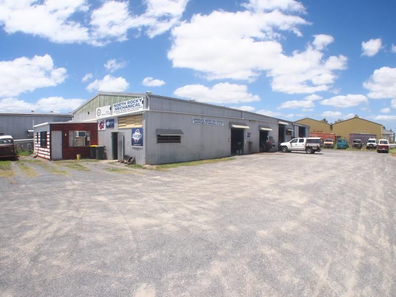LARGE INDUSTRIAL FACILITY WITH SHED