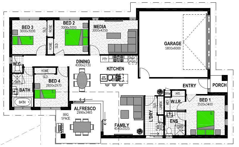 LOT 1301 MAIDENHAIR PLACE CABOOLTURE Floorplan