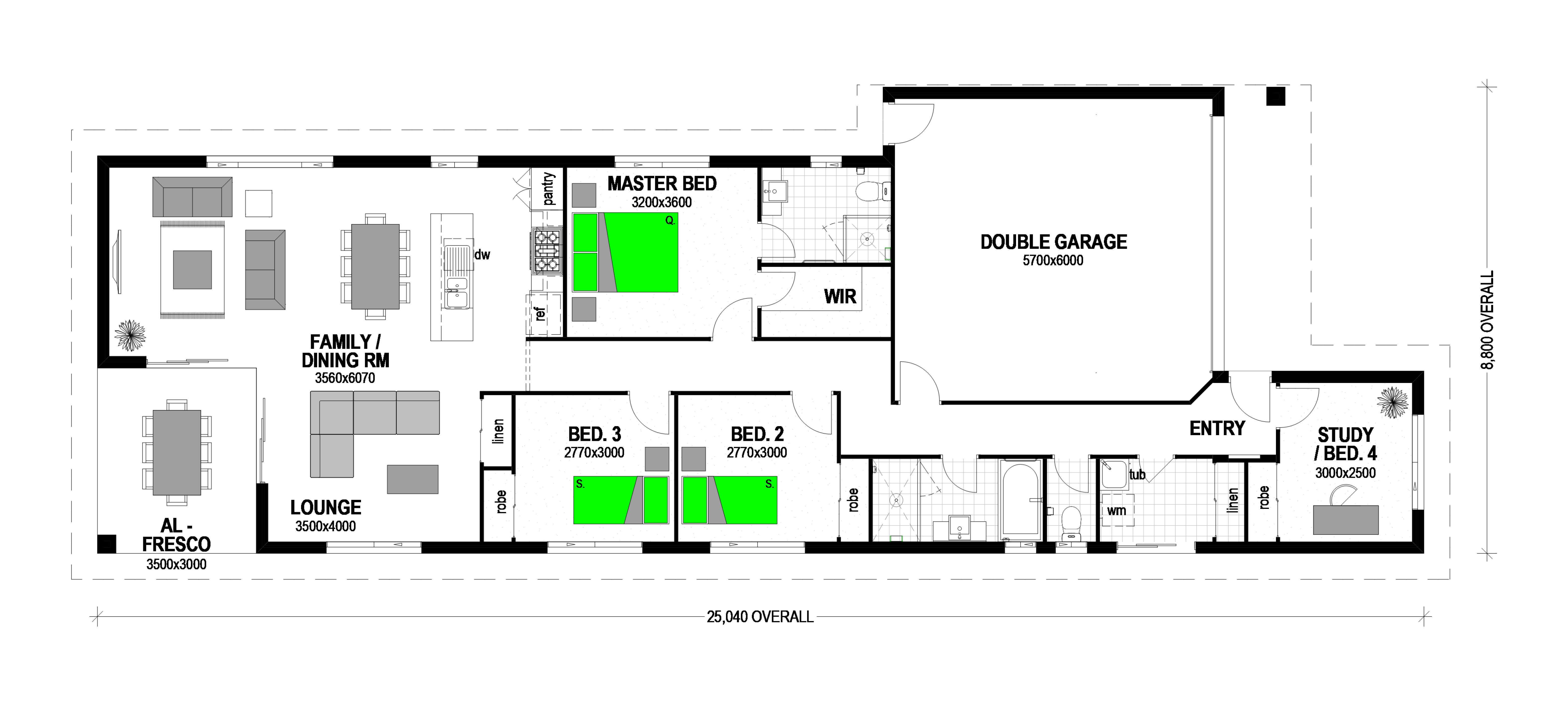 "LOT 75 CLIFFDALE PLACE ""FAIRVIEW ESTATE KOOTINGAL Floorplan"