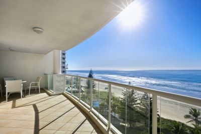 Absolute Beachfront La Sabbia apartment with sweeping ocean views - 6 Month Lease