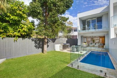 Made for Entertaining     Brand New Home offers Sundrenched Level Garden & Pool in Blue Chip Harbourside Location.