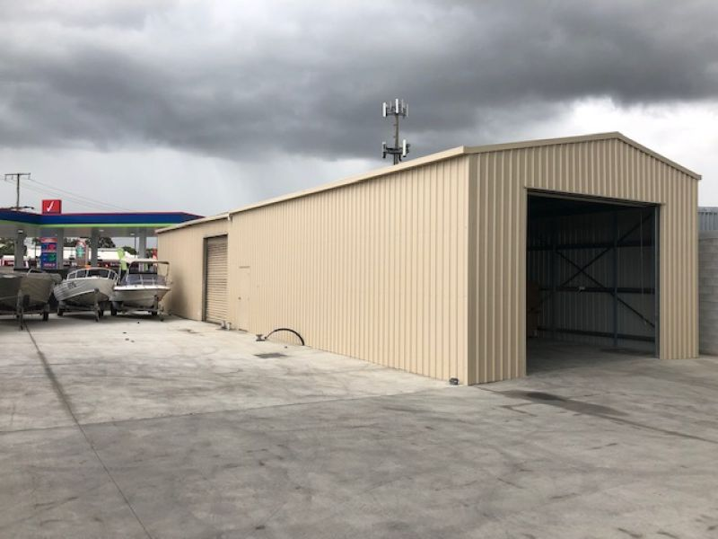 180sqm Affordable Modern Shed with Rear Hardstand