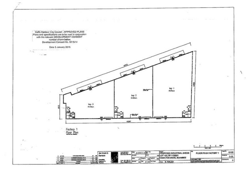 DA APPROVED INDUSTRIAL SUBDIVISION