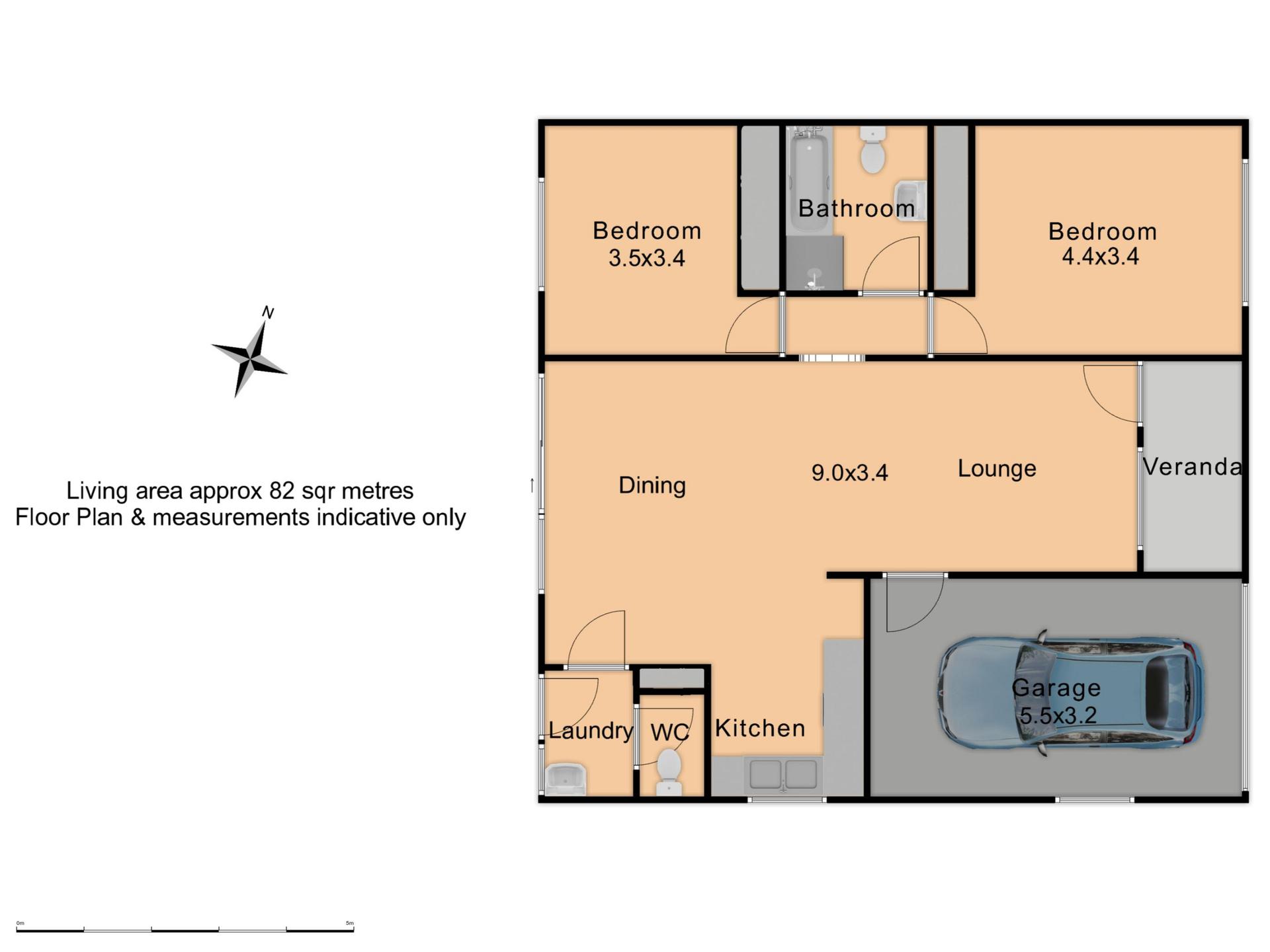13/67 Kenna Street  - Floor Plan