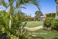 Dress Circle Position. Three bedroom villa with views to the bowling green from the alfresco and lounge. Be quick, this villa will be snapped up.