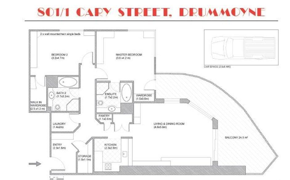 801/1 Cary Street, Drummoyne