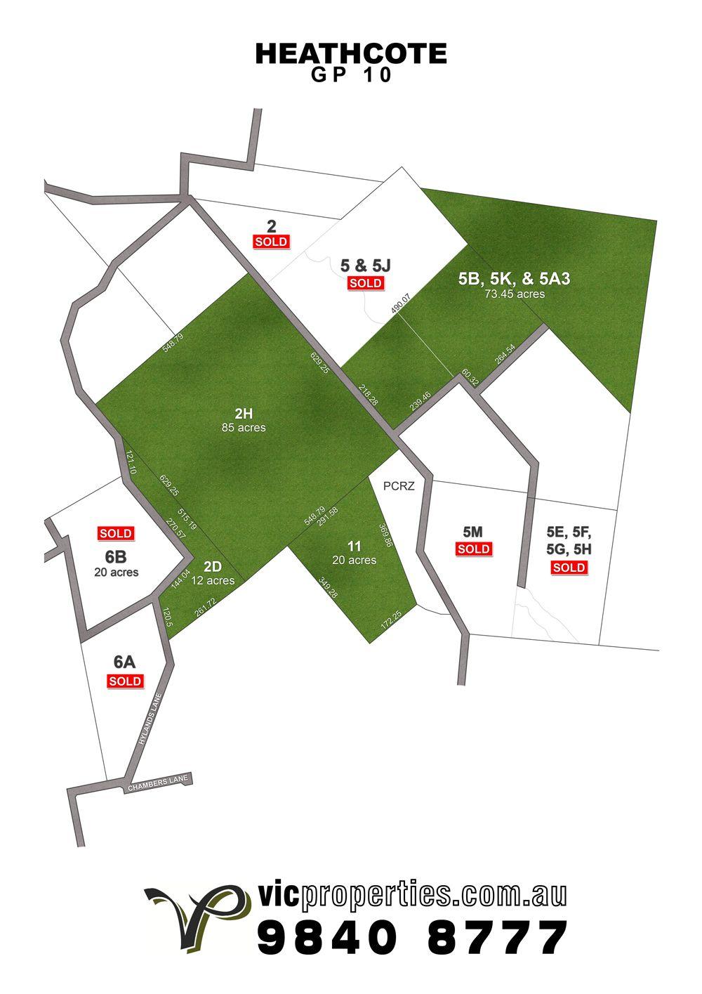 Lot 2H/ Hylands Lane, Heathcote VIC 3523