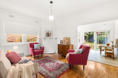 SOLD - ON THE BORDER OF BRONTE AND CLOVELLY NEAR VARNA PARK.CHARM AND SERENITY.POLISHED BOARDS, WHITE WALLS.