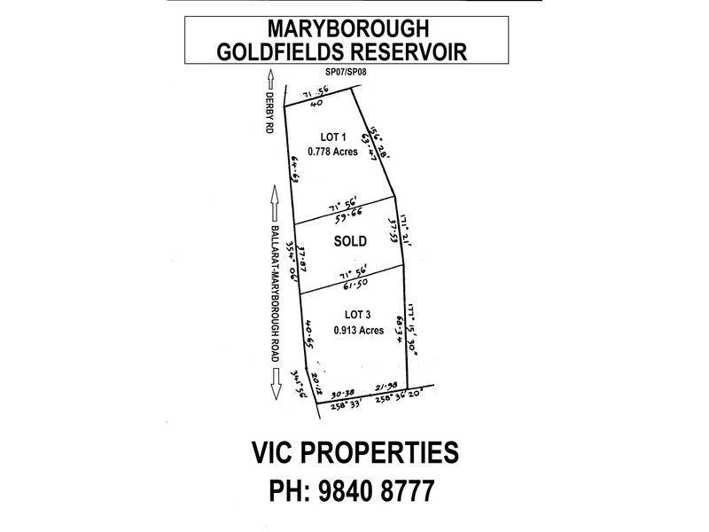 Lot 1/ Derby Road, Maryborough VIC 3465
