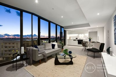 Ultra-modern, light-filled, and generous Array living