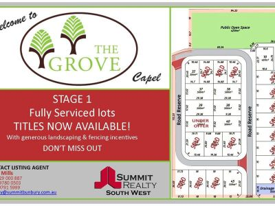 THE GROVE STAGE 1 - LIMITED LOTS REMAIN!