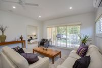 Open plan unit with outdoor patio