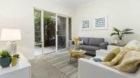 Open plan apartment with garden views