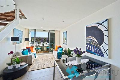 SPLIT LEVEL EXECUTIVE ONE BEDROOM WITH CITY GLIMPSES OPEN FOR INSPECTION: BY APPOINTMENT