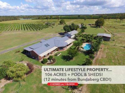 106 ACRES + LARGE HOME, BIG SHEDS & POOL!