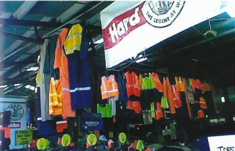 SITUATED IN THE MELBOURNE QUEEN VICTORIA MARKET - L-SHED - HARD YAKKA WORKWEAR  - OWNER RETIRING -