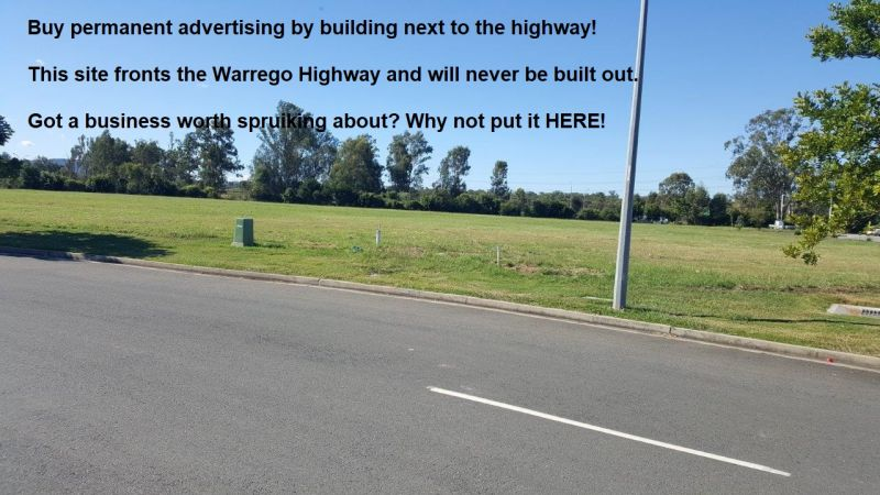 Prime Industrial Land Facing Warrego Highway and 52,500 vehicles per day