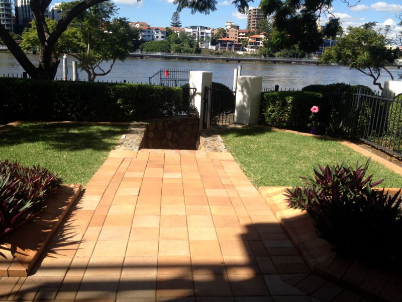 FULLY FURNISHED RIVER FRONT GROUND LEVEL UNIT