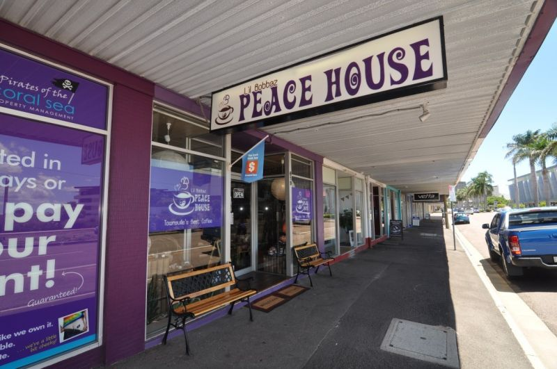 Flinders Street shopfront - currently Peace House Coffee Shop & Gift store