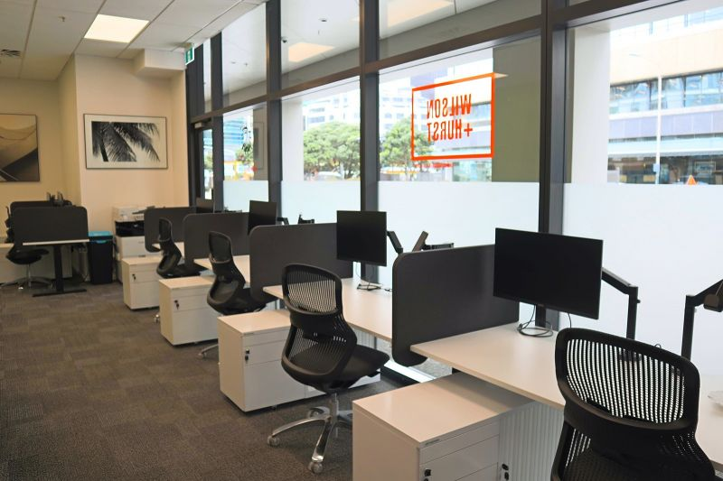 Shared office space in PWC building