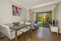 Immaculate one bedroom ground floor apartment. Enclosed verandah provides extra living space. Enjoy direct access to the beautiful village gardens.