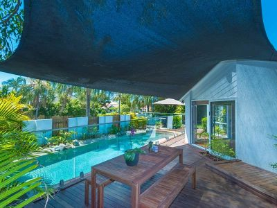 Central Noosa Waters home with pool