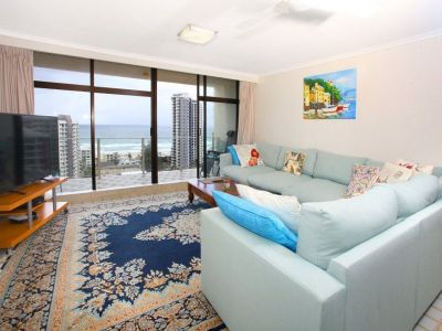 Huge Furnished 1 Bedroom, Top Floor, Beach Facing