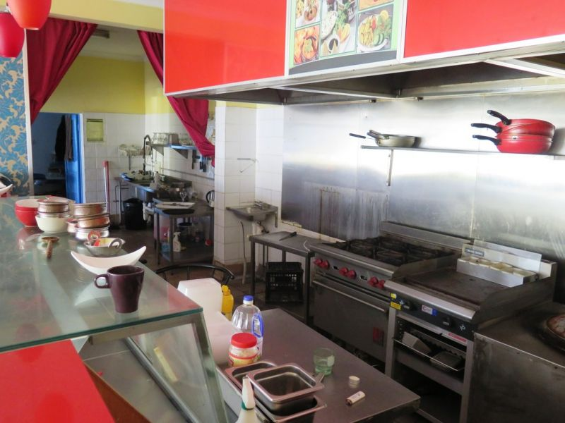 Restaurant with Commercial kitchen & cool room!