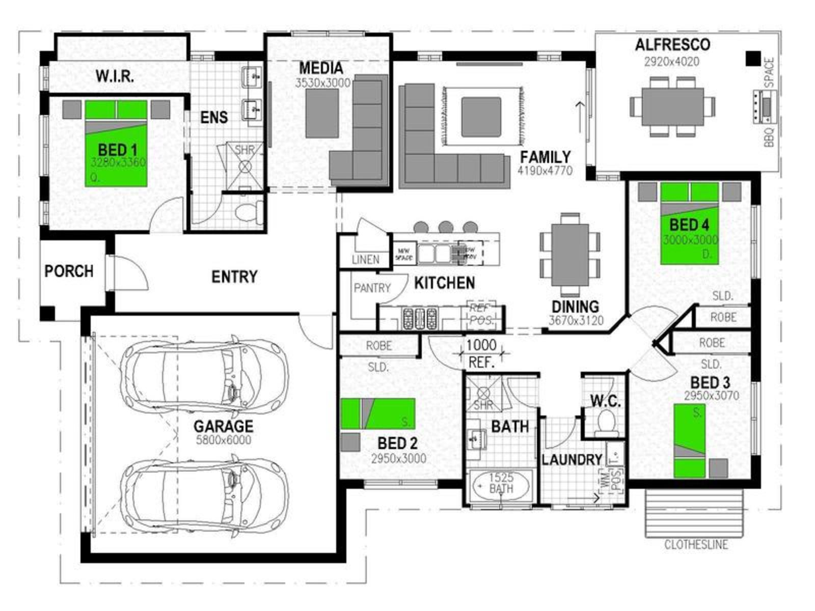 * *ADDRESS ON ENQUIRY* ALEXANDRA Floorplan