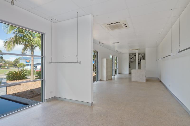 Modern premises, busy location