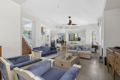 Large private beachside home