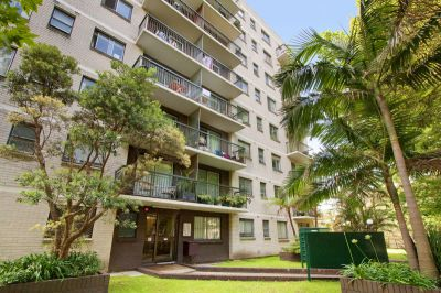 TOP FLOOR ONE BEDROOM APARTMENT WITH DISTRICT AND CITY VIEWS  OPEN FOR INSPECTION:  BY APPOINTMENT