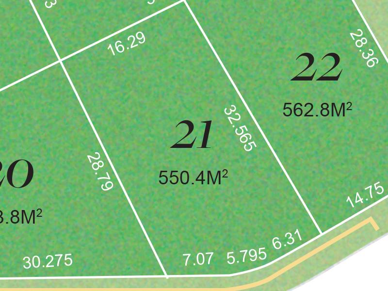 Barden Ridge Lot 21 Proposed Road