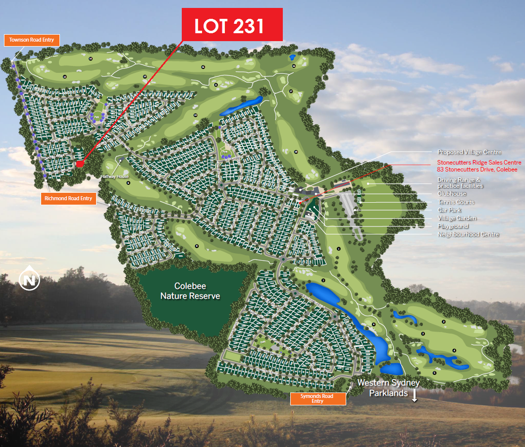 Colebee LOT 231 MASTERS CIRCUIT | STONECUTTERS RIDGE