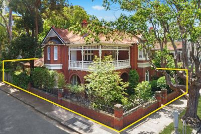 Grand Character Freestanding Home offers Two Street Frontages & Sundrenched Level Gardens in Blue Chip Locale