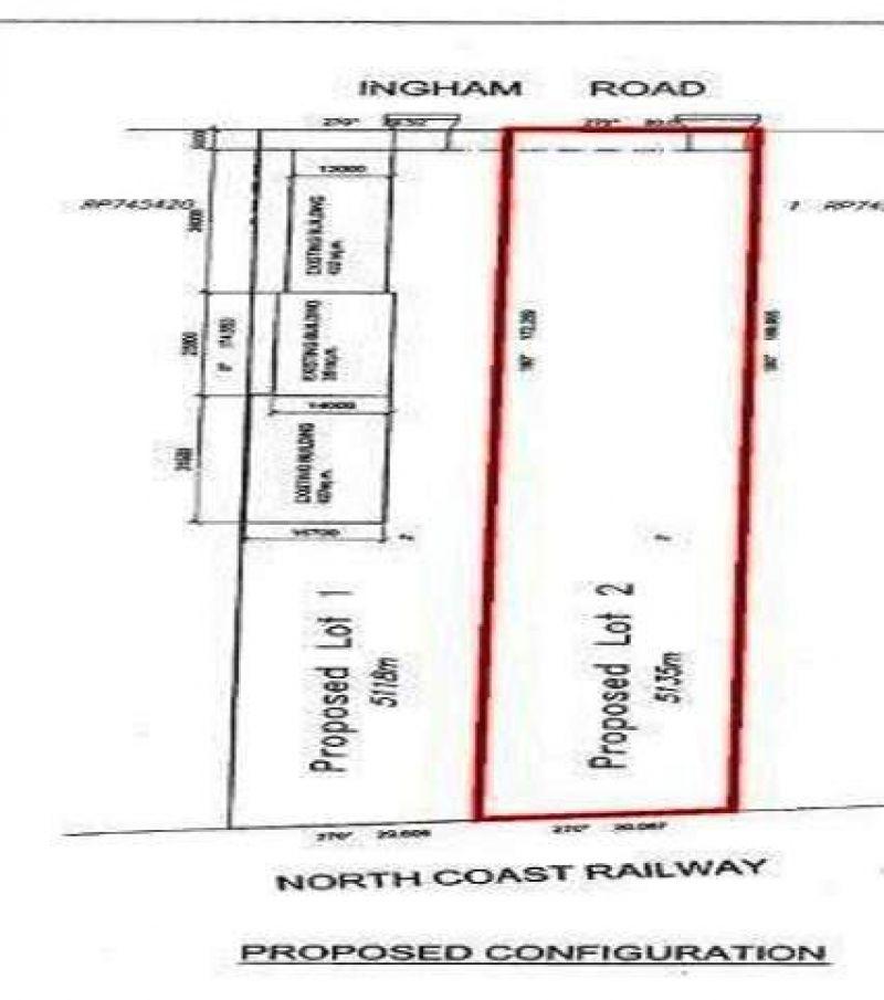Secure hardstand fronting Ingham Road