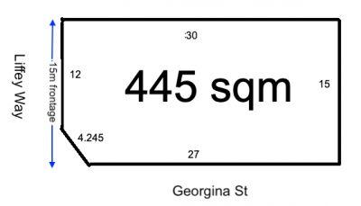 Registered rectangular 445 sqm land