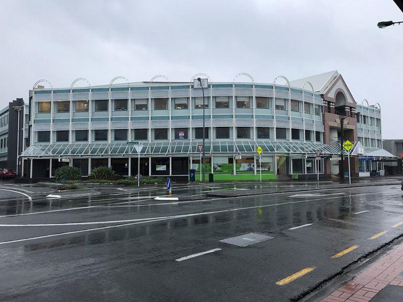 Prominent corner retail space