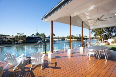 Hamptons Inspired Waterfront Entertainer