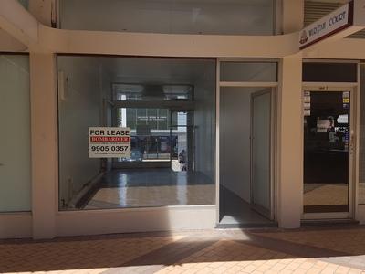 Shop in Waratah Court with Bungan Lane access.