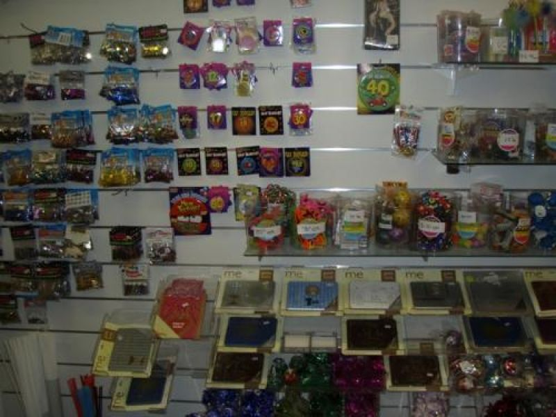 Party supplies and shop fittings only - closing down