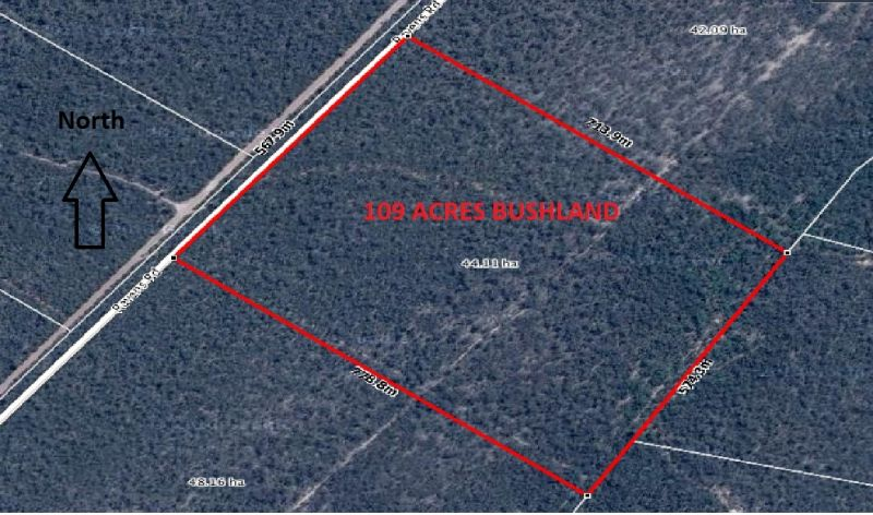 109 ACRES OF NATURAL BUSHLAND