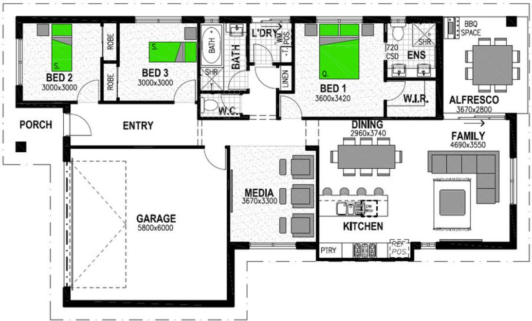 LOT 17 EXPLORERS WAY (NORTHERN LIGHTS ESTATE) WESTDALE Floorplan