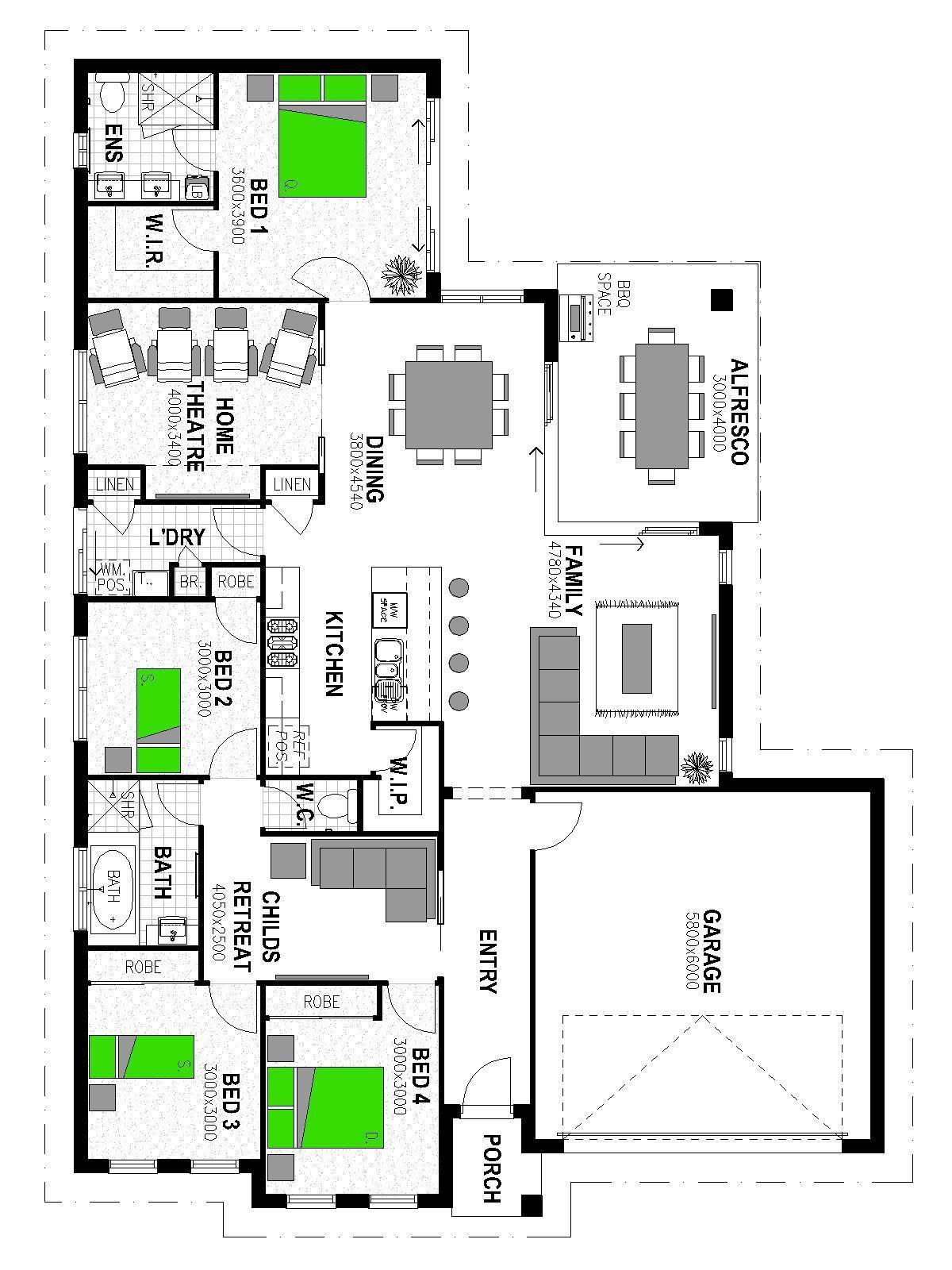 LOT 53 'MANOOKA ESTATE' MOGGILL Floorplan