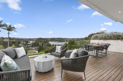 An impressive property with views to Middle Harbour.