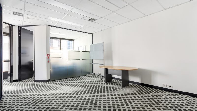 Spacious office for lease with city skyline views