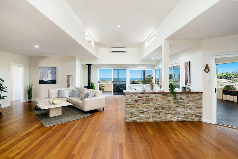 Stunning ocean views with dual living