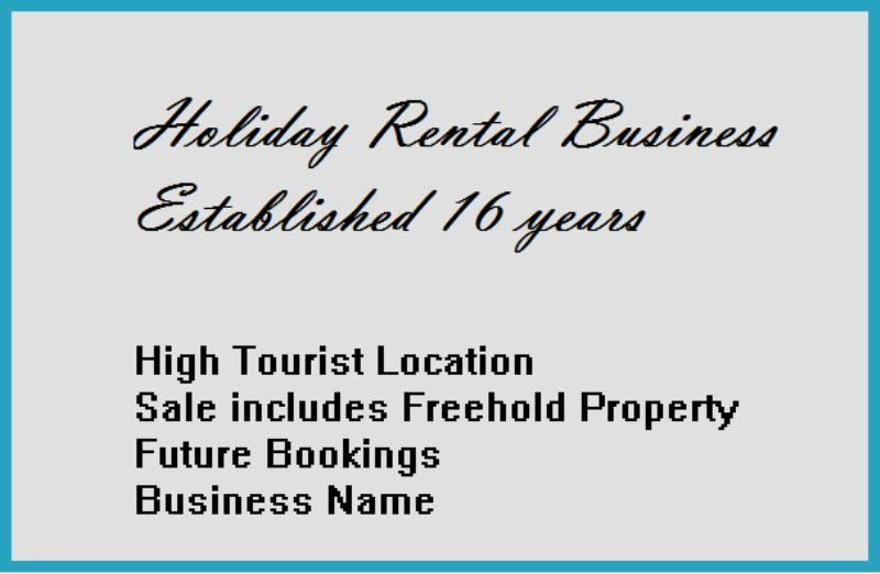 HOLIDAY RENTAL PROPERTY BUSINESS - ESTABLISHED FOR 16 YEARS